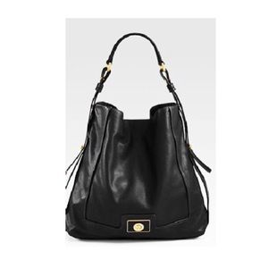 Marc Jacobs Black Leather Turnlock Bag